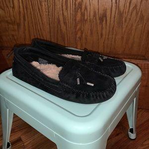🆕 Ugg Black Suede Loafer Sz 7